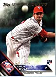 2016 Topps Update #US284 Aaron Nola Philadelphia Phillies Baseball Rookie Debut Card in Protective Screwdown Display Case