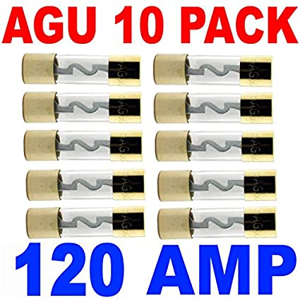51SAM5VQ%2BNL._SX425_ amazon com agu fuse 10 pack 120 amp fuses gold plated 120 car