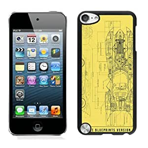 Unique And Durable Custom Designed Case For iPod Touch 5 With Batmobile Blueprint Black Phone Case