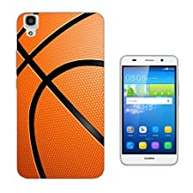 002824 - Sports Ball American Basketball Design Huawei Y6 Fashion Trend CASE Gel Rubber Silicone All Edges Protection Case Cover