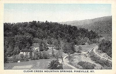 Clear Creek Mountain Springs, Pineville, Kentucky Antique Postcard N5911