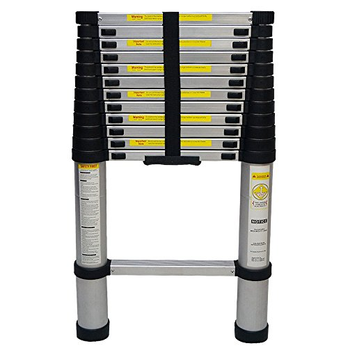 Yi Hai EN131 12.5FT Portable Aluminium Telescoping Ladder Extension Multi Purpose Lightweight