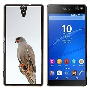 Hawk White Bird Invierno Naturaleza Gris- Metal de aluminio y de plástico duro Caja del teléfono - Negro - Xperia C5 E5553 E5506 / C5 Ultra