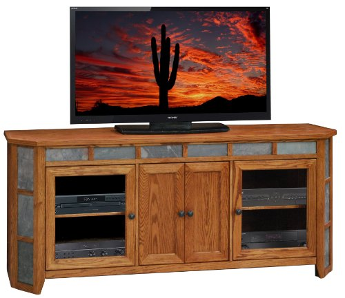 Legends Oak Creek 72 in. Angled TV Console - Golden Oak (Legend Flat Screen)