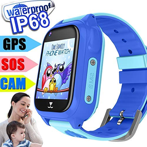 Fitness Activity GPS Tracker Watch for Kids 3-12, Smart Watch, Waterproof, Tracking Device, Two Way Chat, Phone Games Watch, Camera, Color Display Class Mode Alarm Clock Boy Xmas (2019 Edition)