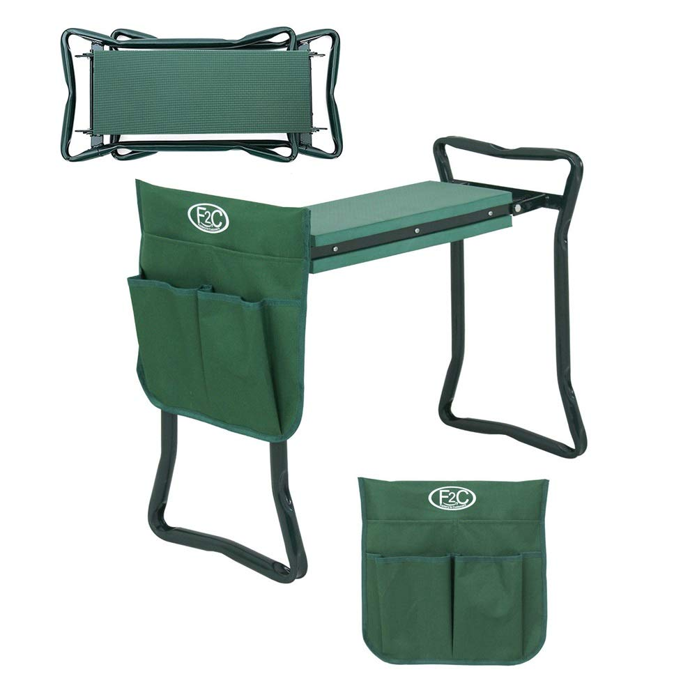 Good Concept Garden Kneeler Seat Bench Stool Foldable Soft Cushion w Tool Pouch by Good Concept (Image #8)