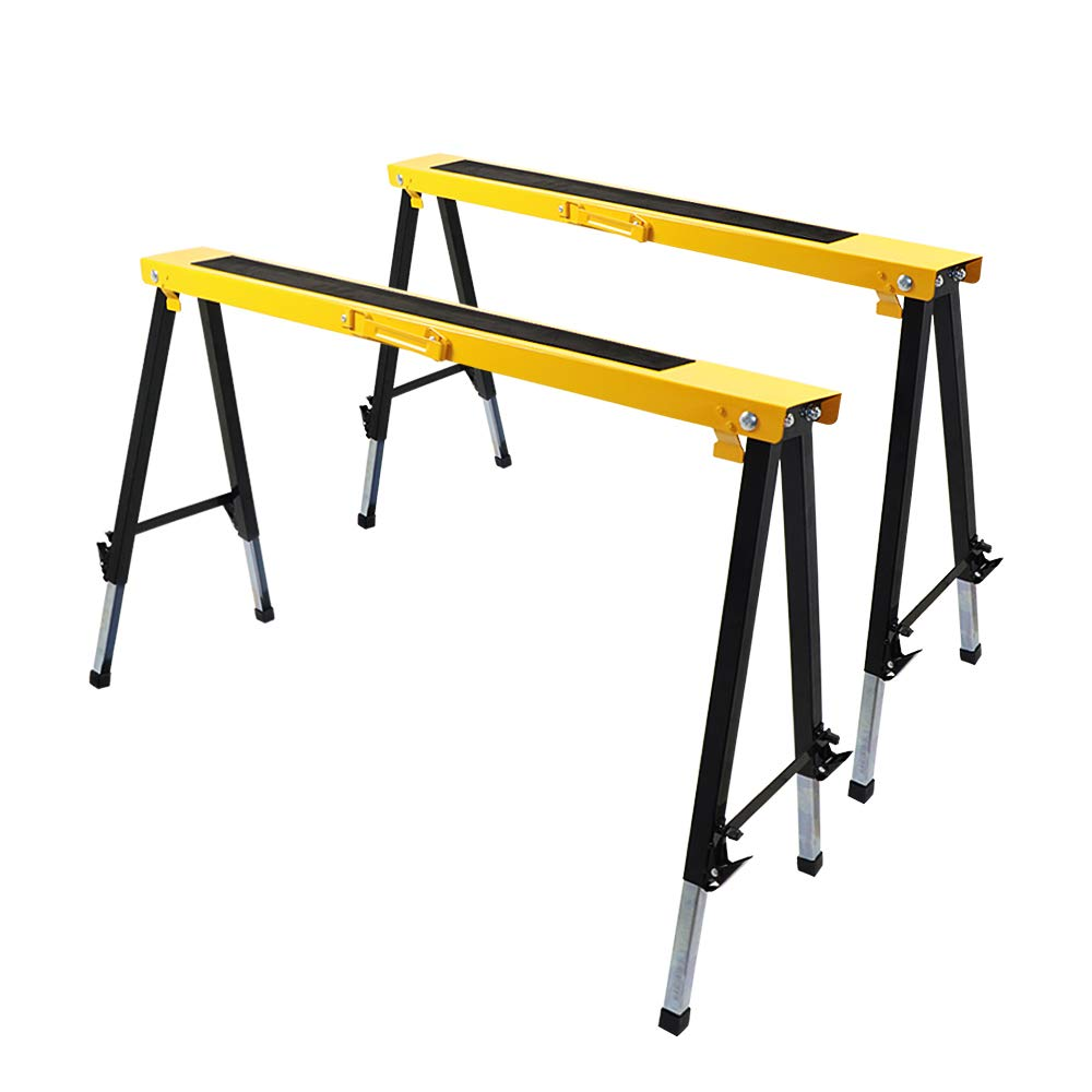 TOYEEKA Sawhorse with Heavy Folding Portable Legs 2-Pack