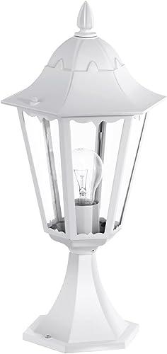 Antiguo pie (en blanco, Transparente, altura 47 cm, E27, forma de farol) lámpara de exterior o terraza Lámpara Farol lámpara Jardín Proyección Vela – Lámpara de pie: Amazon.es: Iluminación