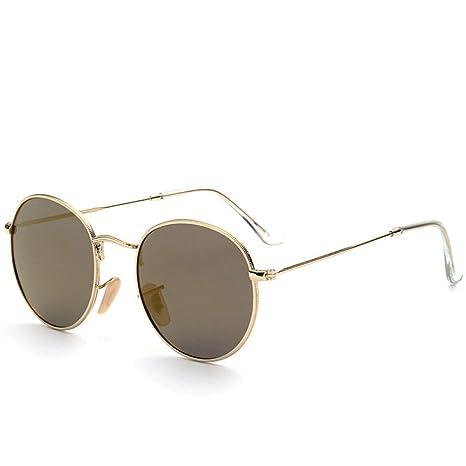 Yangjing-hl Gafas de Sol de Montura Redonda Retro para Mujer Gafas ...