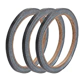 uxcell 3pcs 5mm Width 10M Length Single Sided Safety Marking Carpet Tape Black