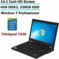 Lenovo Thinkpad T420 14.1-Inches Anti-Glare HD Display Laptop Computer, Intel Core i5 up to 3.2GHz, 4GB DDR3,  320GB HDD, DVD, VGA, WIFI, Gigabit LAN, Windows 7 Professional(Certified Refurbished)