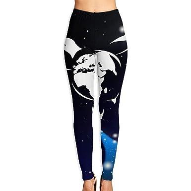 e8c7ea77b00d7a Amazon.com  Printed Leggings Full-Length Earth Turtle Space High Waisted  Yoga Pants  Clothing