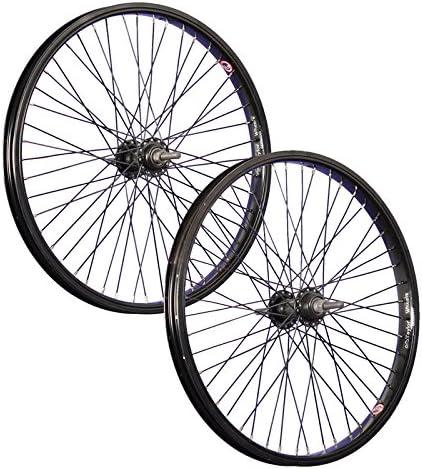 Taylor-Wheels 20 Pulgadas Juego Ruedas Bici BMX 48 Negro: Amazon ...