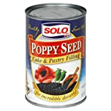 Solo Cake & Pastry Filling Poppy Seed, 12 OZ (Pack of 12)