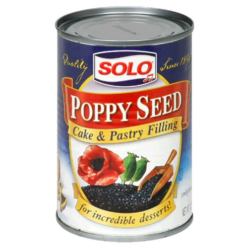 Solo Filling, Poppy Seed, 12.5-Ounce Unit (Pack of 12) ()
