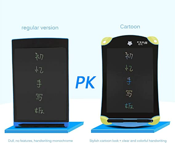 ZFD 8.5 Inches LCD Writing Tablet Icd Drawing Tablet Office Whiteboard Kitchen Memo Notice Fridge Board Magnetic Daily Planner Gifts for Kids Set,Monochrome
