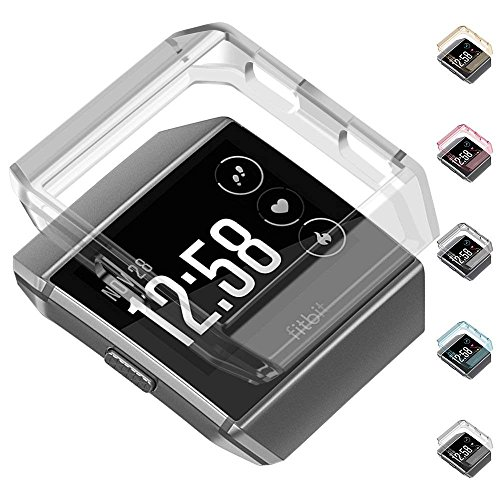Compatible Fitbit Ionic Case Protector greatgo Soft Shock Proof Protective Slim Frame Durable Cover Accessories for Ionic smartwatch Women Men (Crystal Clear)