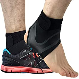 Beister 1 Pair Ankle Support Breathable Neoprene Compression Ankle Brace for Men and Women, Elastic Sprain Foot Sleeve…