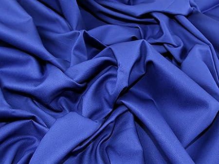 Peso medio tela de algodón para vestidos (Royal azul – por metro: Amazon.es: Hogar