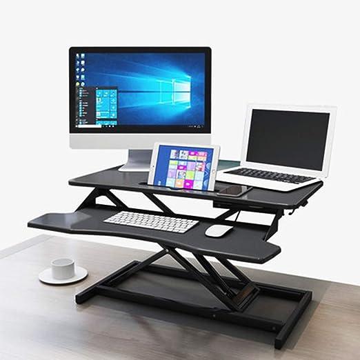 GYJ Escritorio para computadora de pie, Bandeja de Mesa de Trabajo ...