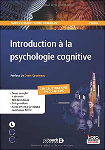 Amazon Fr Introduction A La Psychologie Cognitive