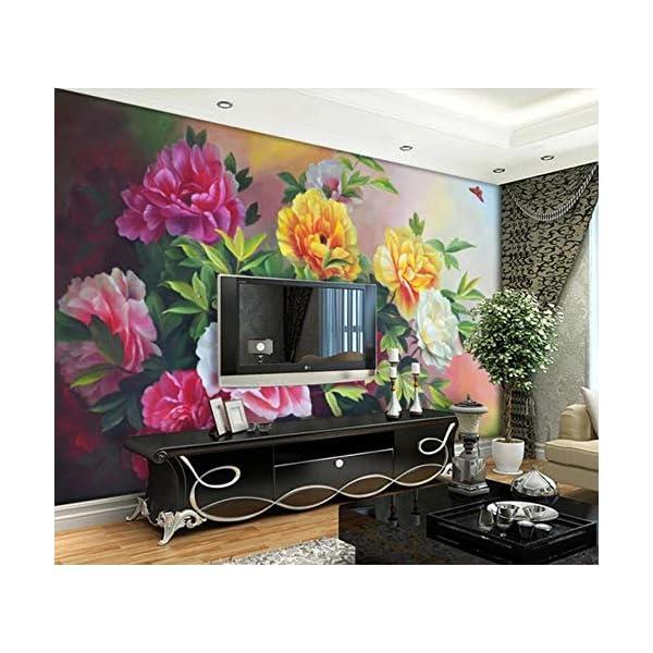 LIWALLPAPER-Carta-Da-Parati-3D-Fotomurali-Farfalla-Fiore-Foglia-Verde-Rosa-Camera-da-Letto-Decorazione-da-Muro-XXL-Poster-Design-Carta-per-pareti-200cmx140cm