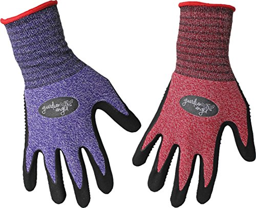 Guardian Angels Pets - BOSS MANUFACTURING 8444S 656729 Guardian Angel Dotted Nitrile Palm Knit Wrist Assorted, Small, Assorted