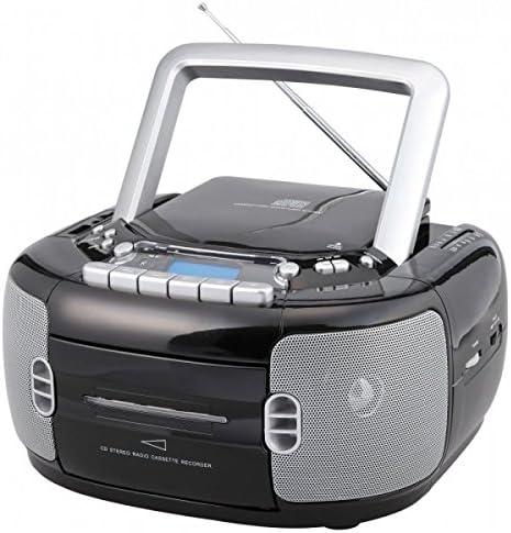 Soundmaster SCD6550SW Negro - Radio CD (FM, CD,CD-R,CD-RW, Stop automático, Negro, AC/Batería, D): Amazon.es: Electrónica