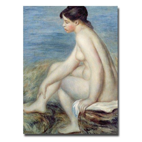 Trademark Fine Art Seated Bather by Pierre Renoir Canvas Wall Art, 35x47-Inch