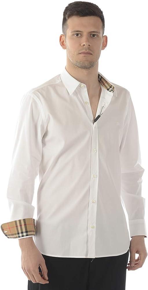 BURBERRY - Camisa Hombre 8008703 8008703 Bianco William S: Amazon.es: Ropa y accesorios