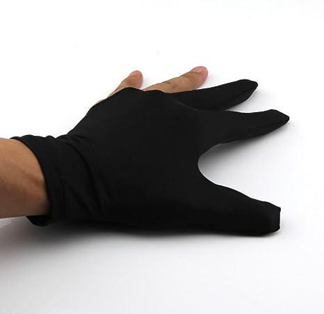 5 par de billar 3 dedos guantes francotiradores: Amazon.es: Deportes y aire libre