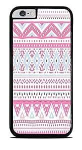 Pretty Pink Tribal Design Pattern Black Hardshell Case for iPhone 6 (4.7) by icecream design