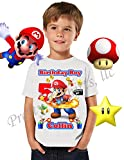 Mario Birthday Shirt, ADD any name and any age, Birthday Boy Shirt, Super Mario Birthday Shirt, FAMILY Matching Shirts, Mario Shirt, Birthday Shirt Super Mario, Fire Power Mario