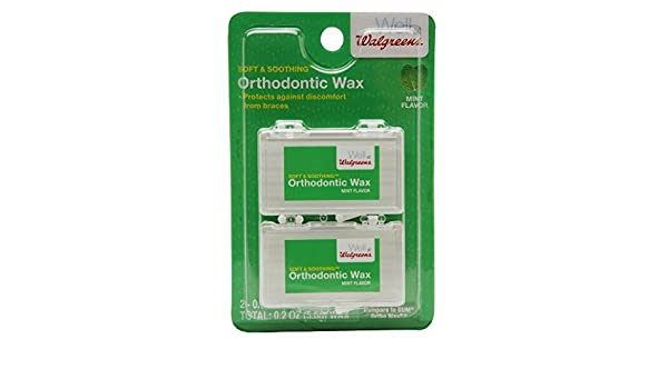 Amazoncom 1 Pack Of Walgreens Ortho Wax Solid Mint Flavour 001 Oz