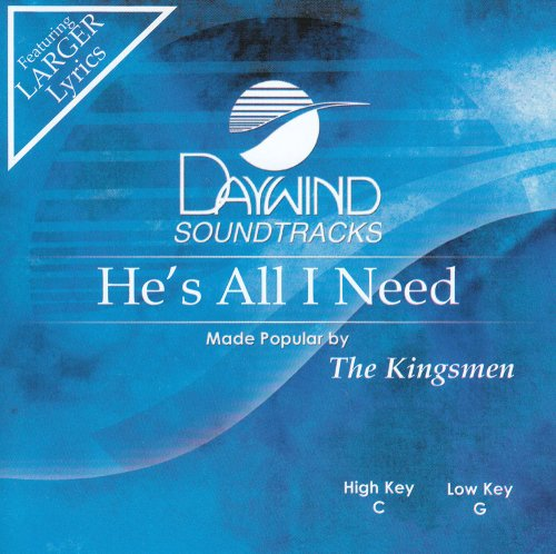He's All I Need [Accompaniment/Performance Track] pdf