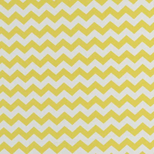 SheetWorld - Crib Skirt (28 x 52) - Yellow Chevron Zigzag - Made In USA