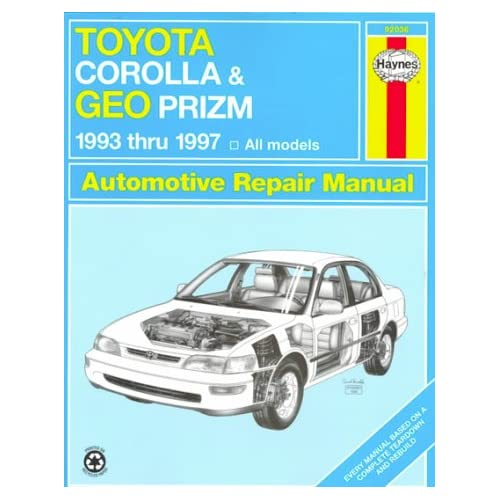 Toyota corolla geo prizm 1993-97 all models automotive repair.