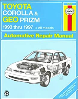 Geo prizm repair manual 1990-1997.