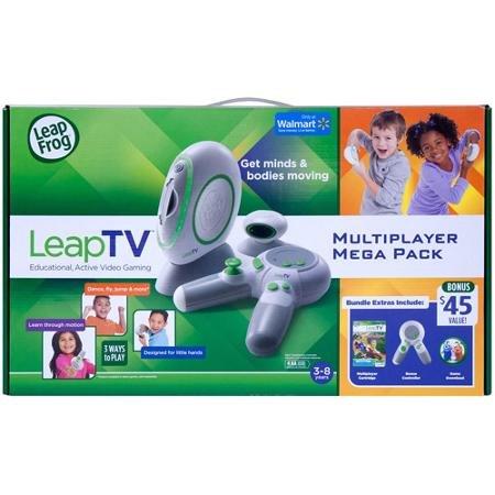 LeapFrog LeapTV Educational Active Video Gaming System Multiplayer Mega Bundle ()