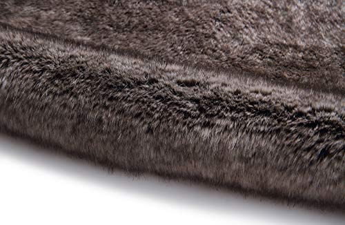 Caracilia Elegant Bridal Wedding Faux Fur Shawl Stole Wrap Shrug CA95 , Rabbit Fur Grey , Large by Caracilia (Image #4)