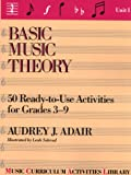 : Basic Music Theory: 50 Ready-To-Use Activities for Grades 3-9 (Music Curriculum Activities Library, Unit 1)