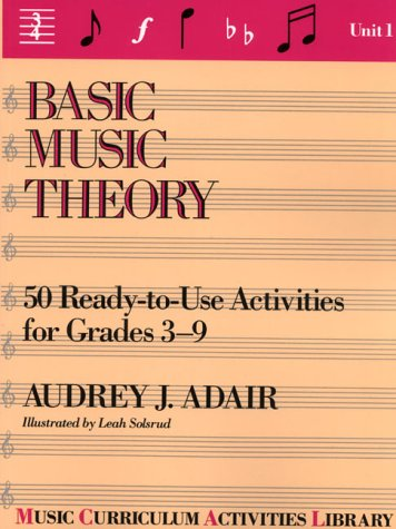 Basic Music Theory: 50 Ready-To-Use Activities for Grades 3-9 (Music Curriculum Activities Library, Unit 1)
