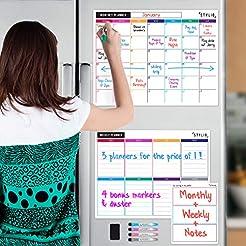 STYLIO Dry Erase Calendar Whiteboard. Se...