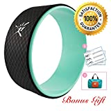 Yoga Wheel – Strongest Most Comfortable Dharma Yoga Prop Wheel for Yoga Poses, Perfect Roller for Stretching, Increasing Flexibility and Improving Backbends