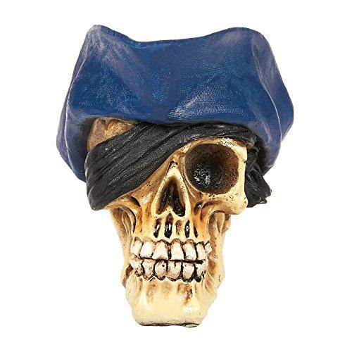 Skull Prop - Realistic Skull Model, Resin Halloween Skull Decoration, Pirate Skull Fake Skull for Halloween, Birthday Parties, Interior Decor - 3.2 x 3.8 x 3.5 Inches