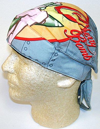 Deluxe Skull Cap (Danbanna Deluxe Cherry Bomb Retro Pin Up Girl Durag Head Wrap Biker Skull Cap Helmet Liner)