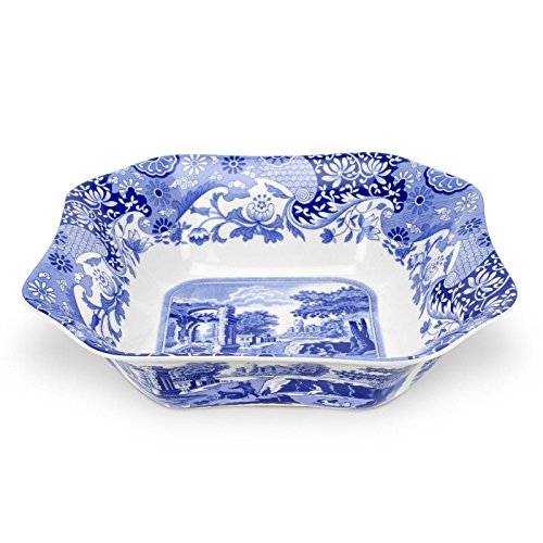 Spode Blue Italian Square Serving Bowl Blue Earthenware Bowls