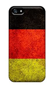 NikRun ItjLz1654LXvdp Protective Case For Iphone 5/5s(dirty Germany Flag)