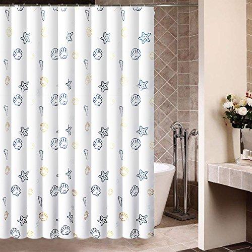 ENNAS Ocean Seashells Polyester Fabric Water Repellent Shower Curtain 72
