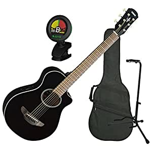 yamaha apxt2 3 4 size travel acoustic electric guitar black restock musical. Black Bedroom Furniture Sets. Home Design Ideas